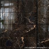 Yurtbay Seramik Java Brown 600x600 Set 2