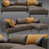 Bowery chaise corner sofa
