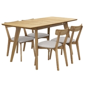 Rockaway 7 Piece Extendable Solid Wood Dining Set