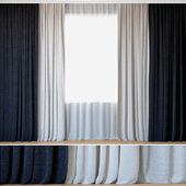 Curtains 57 | Curtains with Tulle | Rebbio