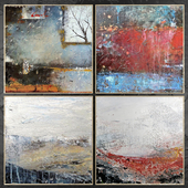 Paintings abstract | set 460