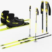 Ski + running boots + bindings