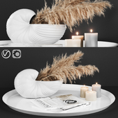 A decoratively artificial Pampas flower 02