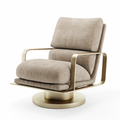 Leather Rocking Swivel Chair Restoration Hardware