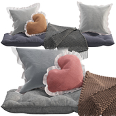 Seat pillow set 6