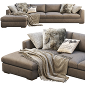 RH Modena Taper Arm Chaise Sectional Sofa