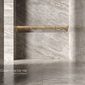 Cream marble tiles 3