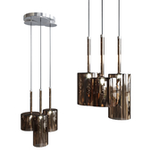 Pendant lamp AXO Light Spillray SP3 glass bronze