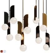 Pendant lamp Neo lampatron Gold / Black
