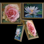 Paintings Rose and Water Lily