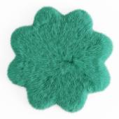Sheepskin Flower Shaped Carpet Fur