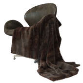 Devon leather chair + mink fur (only V-Ray !!!)
