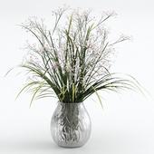 Букет из травы с цветками