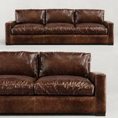 RH/ MAXWELL LEATHER THREE-SEAT-CUSHION SOFA