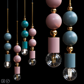 Pendant Lamp Beaded Pendant Lamp Spheres