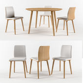 Chair Malmo 313 with Table Malmo 707 By TON