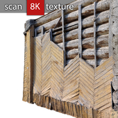 Фрагмент деревянного фасада 37
