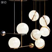 Подвесные светильники Lee Broom MINI CRESCENT & O&G contrapesso 8inch globe
