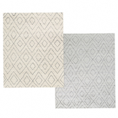Performance Double-Diamond Moroccan Rug by Restoration Hardware