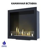 Built-in biofireplace / fireplace. Fireplace insert (SappFire)