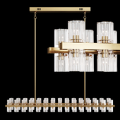 Restoration Hardware ARCACHON LINEAR CHANDELIER 54 Brass