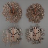 Honeycomb_&_Laser_cut_Wood_Wall_Clock