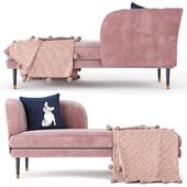 Kensington Chaise Rose Pink