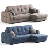 Угловой диван-кровать Оскар от Hoff. Бежевый и синий варианты обивки.