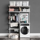 IKEA настенный модуль Альгот 12 /стиральная машина