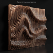 Parametric wooden panels