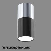 ОМ Накладной потолочный светильник Elektrostandard DLR028 6W 4200K хром/черный хром
