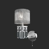 OM Classic wall lamp with lampshade Eurosvet 10099/1 chrome Zaffiro