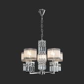 OM Crystal pendant chandelier Eurosvet 10099/5 Zaffiro chrome