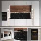 Modern white kitchen Ikea Voxtorp