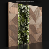 Wooden panels and vertical garden 2