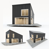 Two-storey residential building. Prefab house. 5
