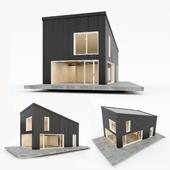 Двухэтажный жилой дом. Сборный дом. 5