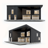 Two-storey residential building. Prefab house. 7