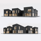 Two-storey residential building. Prefab house. 8
