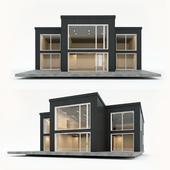Двухэтажный жилой дом. Сборный дом. 9