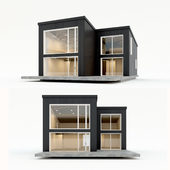 Two-storey residential building. Prefab house. 10