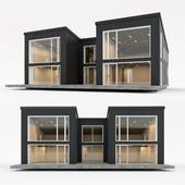 Двухэтажный жилой дом. Сборный дом. 11