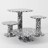 Matera tables by Baxter