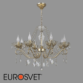 OM Crystal pendant chandelier Eurosvet 10103/8 bronze Teodore