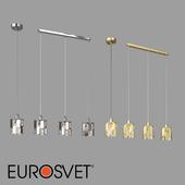 OM Pendant lamp with crystal Eurosvet 50101/1 and 50101/3 Scoppio