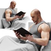 Читающий мужчина