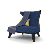 Ebony Neoclassical Armchair