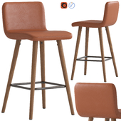 Temple & Webster Tan Faux Barstool