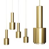 Artek Alvar Aalto Lamp Hand Grenade Brass