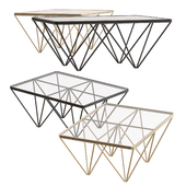 Soho Glass Coffee Table by NV Gallery